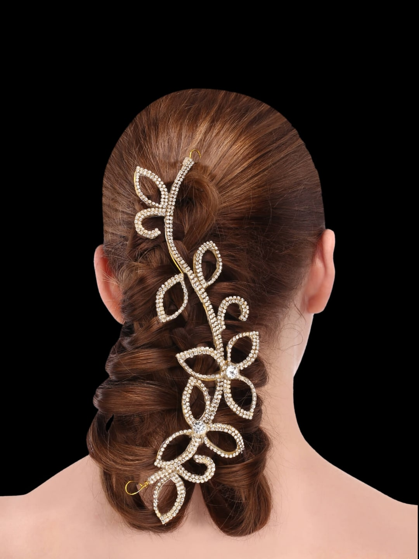 Sri Shringarr Fashion Fancy Hair Accessory//Hair Brooch//Hair Jewellery for Women.AM11ON